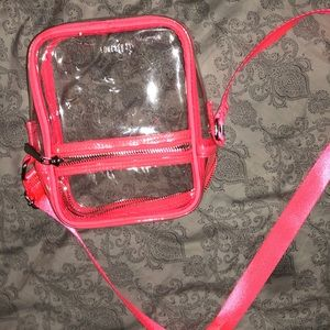 Clear forever 21 over the shoulder clear mini bag